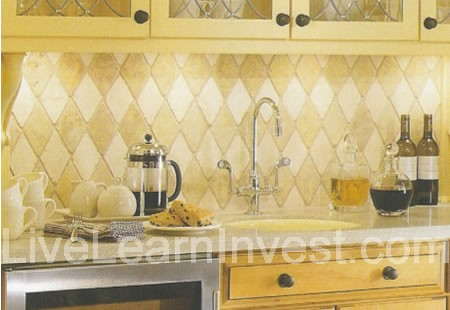 Kitchen Tile Backsplash Diamond