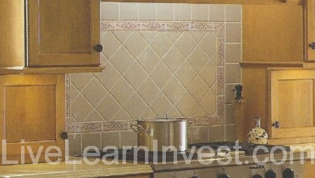 Kitchen Tile Backsplash Pattern diamond patterns with different tile sizes