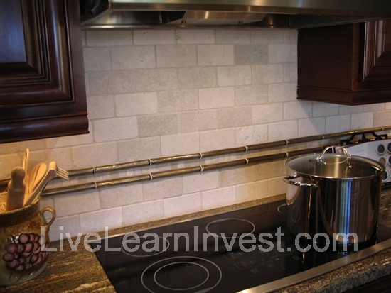 Mini Brick Like Pattern Backsplash