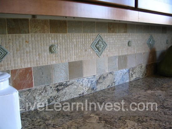 Kitchen Tile Backsplash Odd Pattern